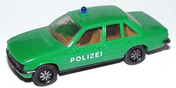 Foto 1:87 Opel Rekord Polizei grün (IA beige) herpa