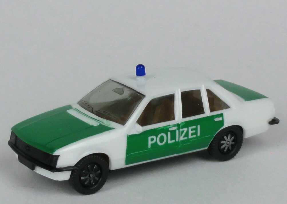 Foto 1:87 Opel Rekord E Polizei weiß/grün (Schrift klein) herpa 4040/3