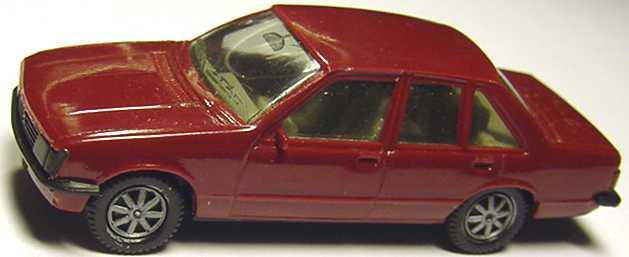 Foto 1:87 Opel Rekord weinrot, IA grau (alte Räder) herpa 2007