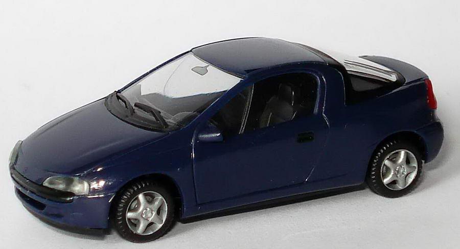 Foto 1:87 Opel Tigra dunkelblau herpa 021746/184137