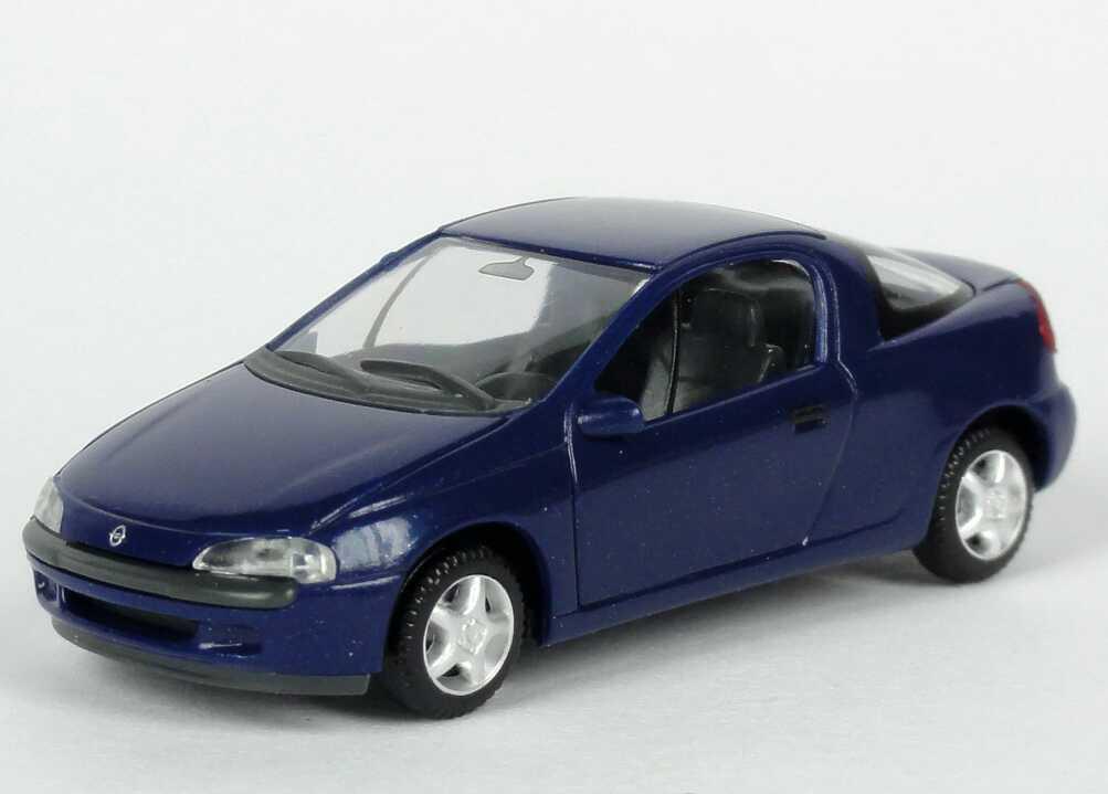 Foto 1:87 Opel Tigra dunkelblau-met. Werbemodell herpa