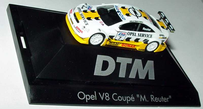Foto 1:87 Opel V8 Coupé Mod. 2000 DTM 2001 Opel Service Nr.7, M. Reuter herpa 037884