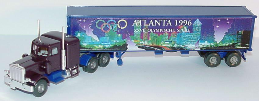 Foto 1:87 Peterbilt 40CoSzg 3/2 Atlanta 1996 - XXVI. Olympische Spiele Wiking 52703