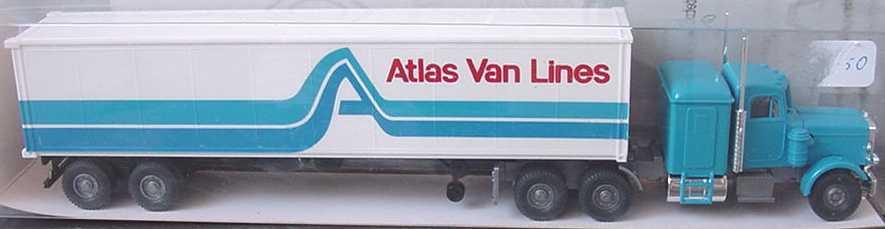 Foto 1:87 Peterbilt 40CoSzg 3/2 Atlas Van Lines Wiking 52729