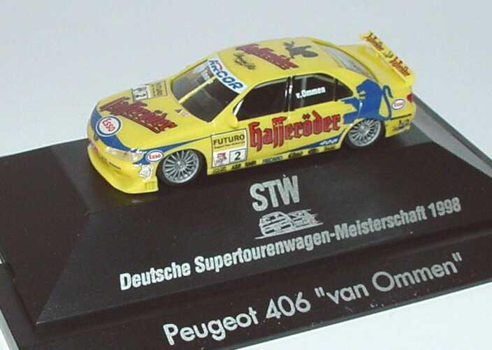 Foto 1:87 Peugeot 406 STW 1998 Hasseröder Nr.2, van Ommen herpa 037624
