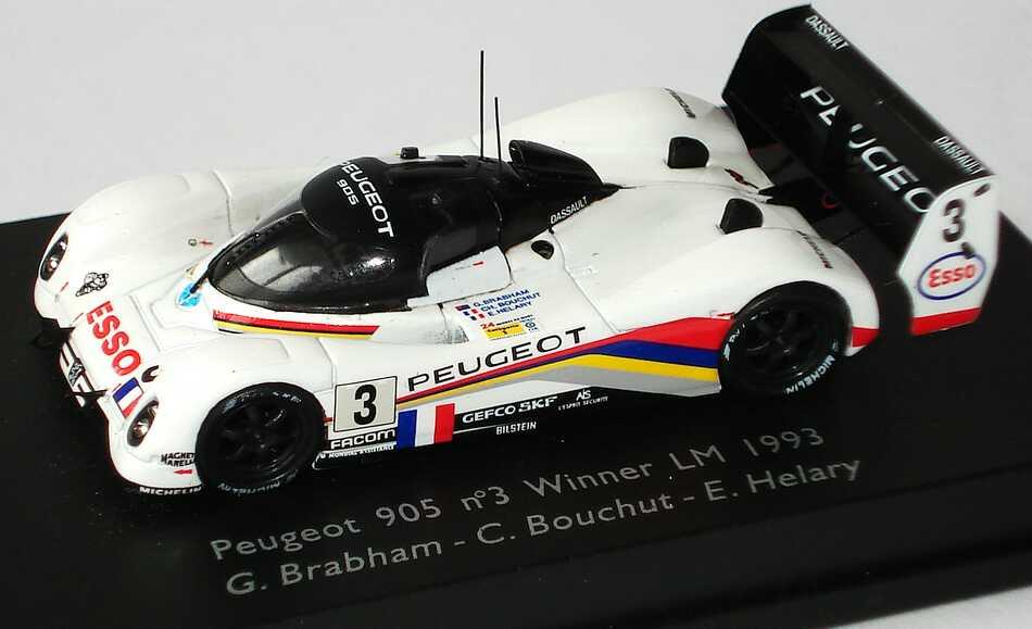 Foto 1:87 Peugeot 905 LeMans 1993 Peugeot, Esso Nr.3 Brabham / Bouchut / Helary (Siegerfahrzeug) Spark 87S008