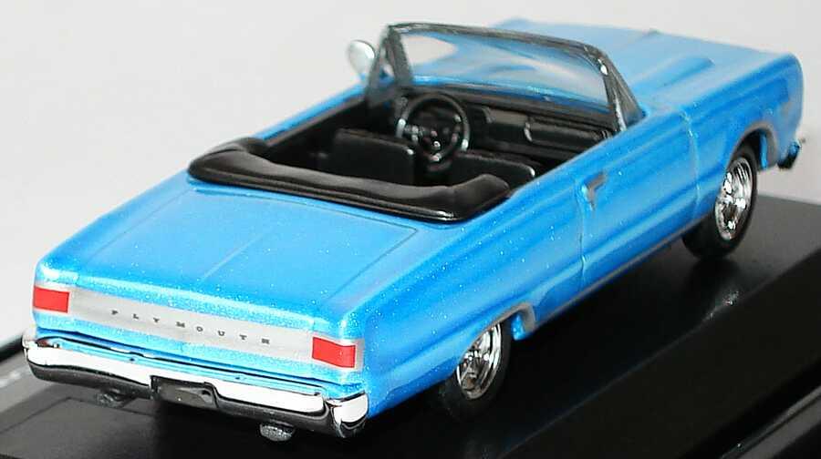 Foto 1:87 Plymouth GTX Convertible (1967) hellblau-met. (Reel Rides, Movie: Tommy Boy) Malibu International 09205