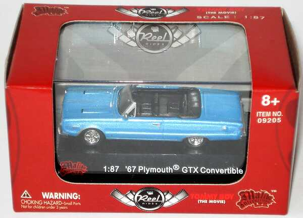 Foto 1:87 Plymouth GTX Convertible (1967) hellblau-met. (Reel Rides, Movie: Tommy Boy) Malibu International 09205