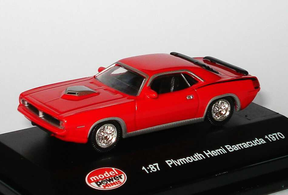 Foto 1:87 Plymouth Hemi Barracuda 1970 rot Model Power 19451