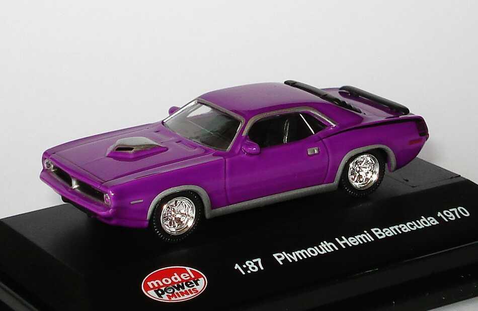 Foto 1:87 Plymouth Hemi Barracuda 1970 violett Model Power 19450