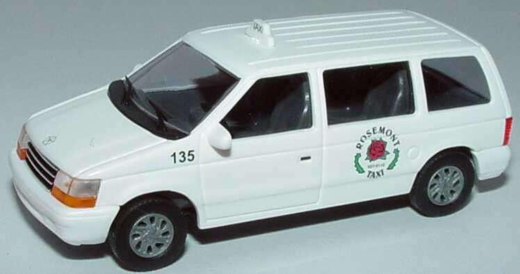 Foto 1:87 Plymouth Voyager Rosemont Taxi Busch 44615