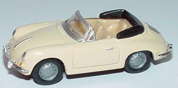 Foto 1:87 Porsche 356 B Cabrio beige herpa 022286/150743