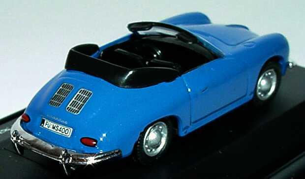 Foto 1:87 Porsche 356 Cabrio blau Schuco 21926