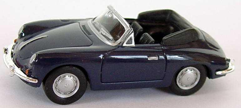 Foto 1:87 Porsche 356 B Cabrio dunkelblau herpa 022286