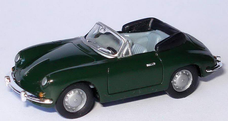 Foto 1:87 Porsche 356 B Cabrio dunkelolivgrün herpa 022286/151672