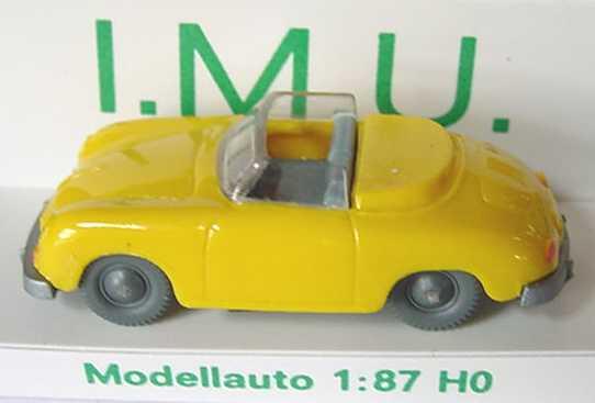 Foto 1:87 Porsche 356 Cabrio gelb I.M.U. 20016