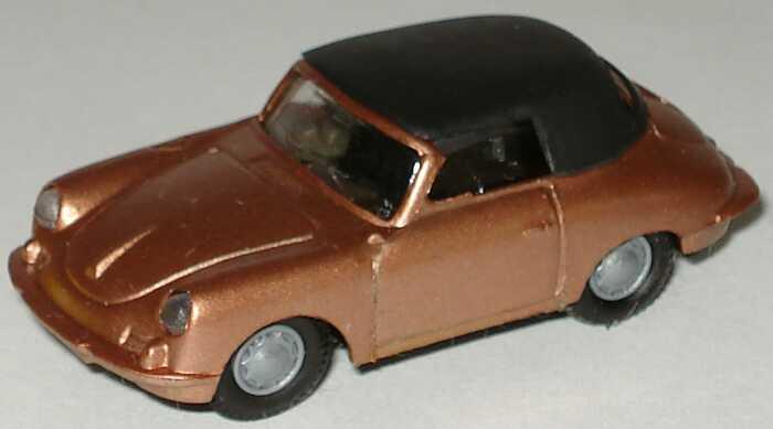 Foto 1:87 Porsche 356 Cabrio (geschlossen) messingrot-met. Praliné