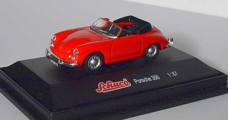 Foto 1:87 Porsche 356 Cabrio rot Schuco 21604