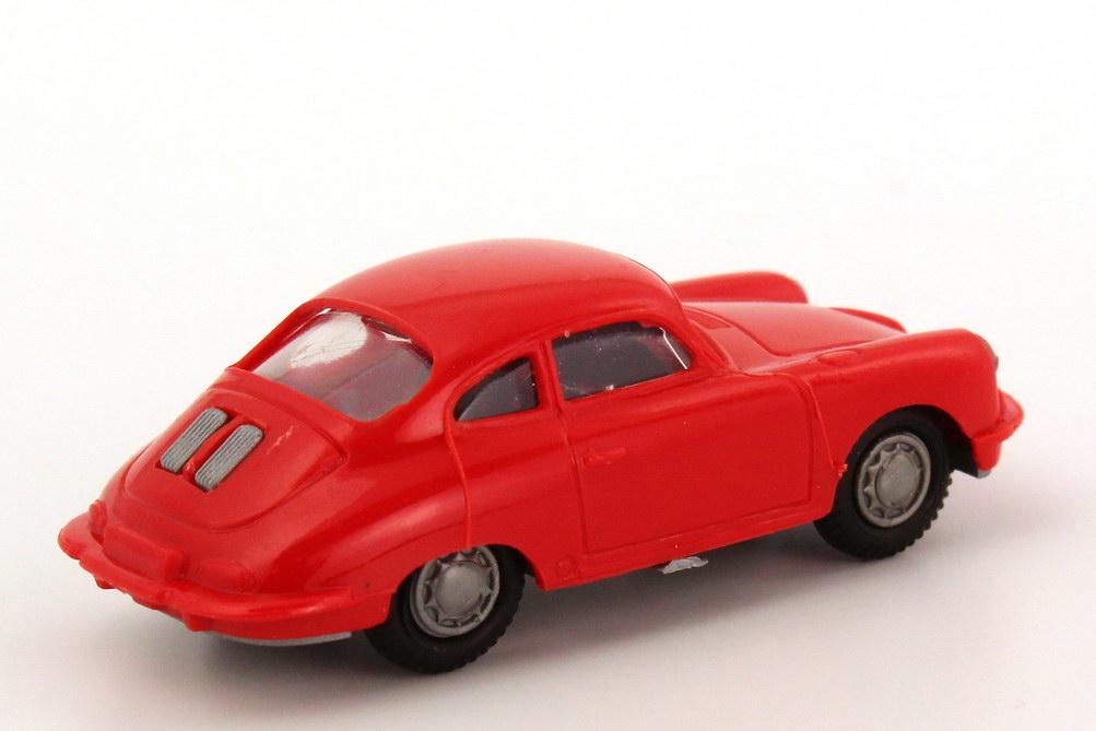 Foto 1:87 Porsche 356 rot, schwarze Sitze Praliné