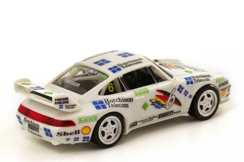 Foto 1:87 Porsche 911 RS Clubsport 993 PSC 1995 PZK Racing Hutchinson Nr.6 Altfried Heger - herpa 036702