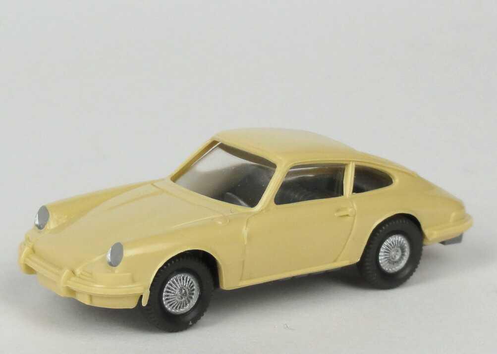 Foto 1:87 Porsche 911 C beige, IA silbergrau (Felgen silber) Wiking 160