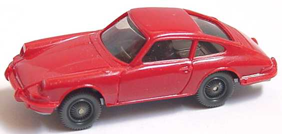 Foto 1:87 Porsche 911 C rot, Felgen unbedruckt, mit Lenkrad Wiking 160