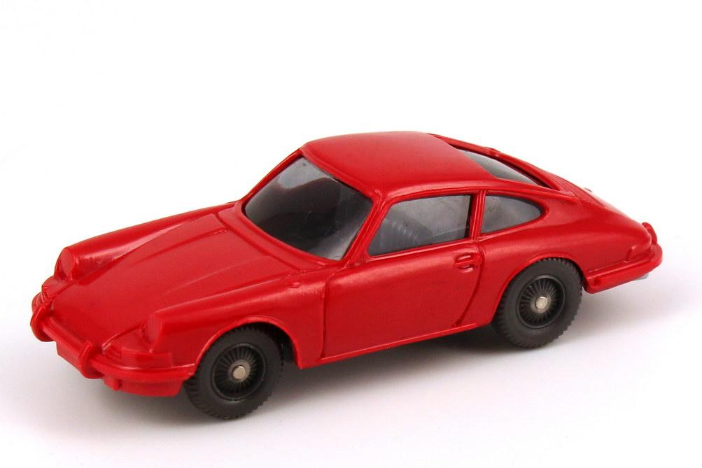 Foto 1:87 Porsche 911 C rot, Felgen unbedruckt, ohne Lenkrad Wiking 160