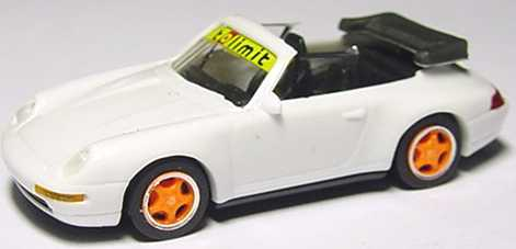 Foto 1:87 Porsche 911 Carrera 2 Cabrio (993) weiß tolimit, Felgen orange euromodell 00701
