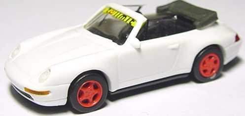 Foto 1:87 Porsche 911 Carrera 2 Cabrio (993) weiß tolimit, Felgen rot euromodell 00701
