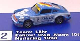 Foto 1:87 Porsche 911 Carrera 2 (Cup-Version) Löhr, HJS Kat Nr. 2, Uwe Alzen euromodell 212
