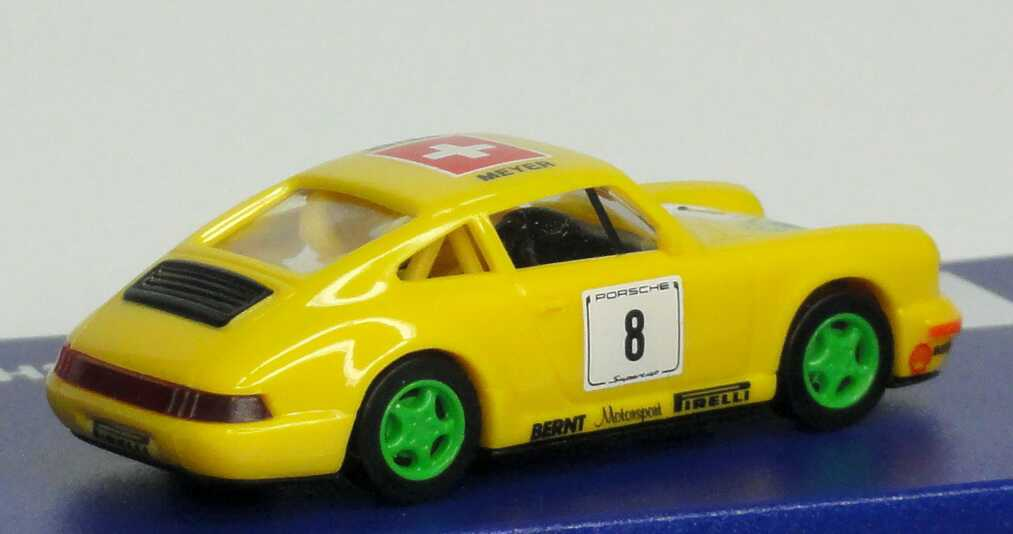 Foto 1:87 Porsche 911 Carrera 2 (Cup-Version) PCC ´94 Bernt, Brigitte Nielsen Jeans Nr.8, Meyer euromodell 01209