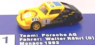 Foto 1:87 Porsche 911 Carrera 2 (Cup-Version) Porsche, Shell Nr. 1, Walter Röhrl euromodell 203