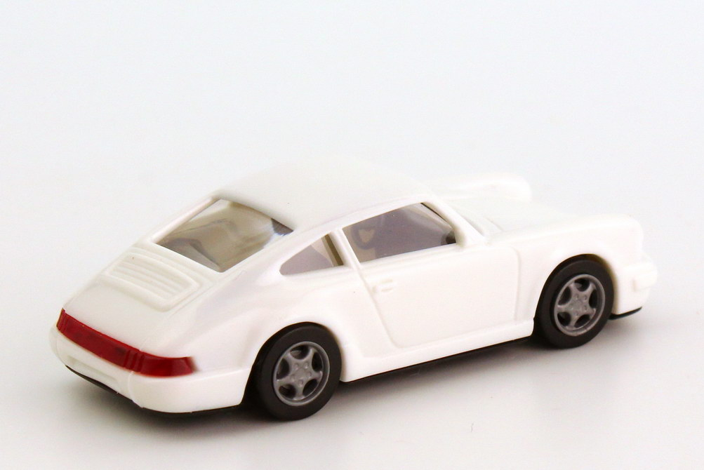 Foto 1:87 Porsche 911 Carrera 2 Cup-Version 964 weiß Spoiler ohne Druck - euromodell
