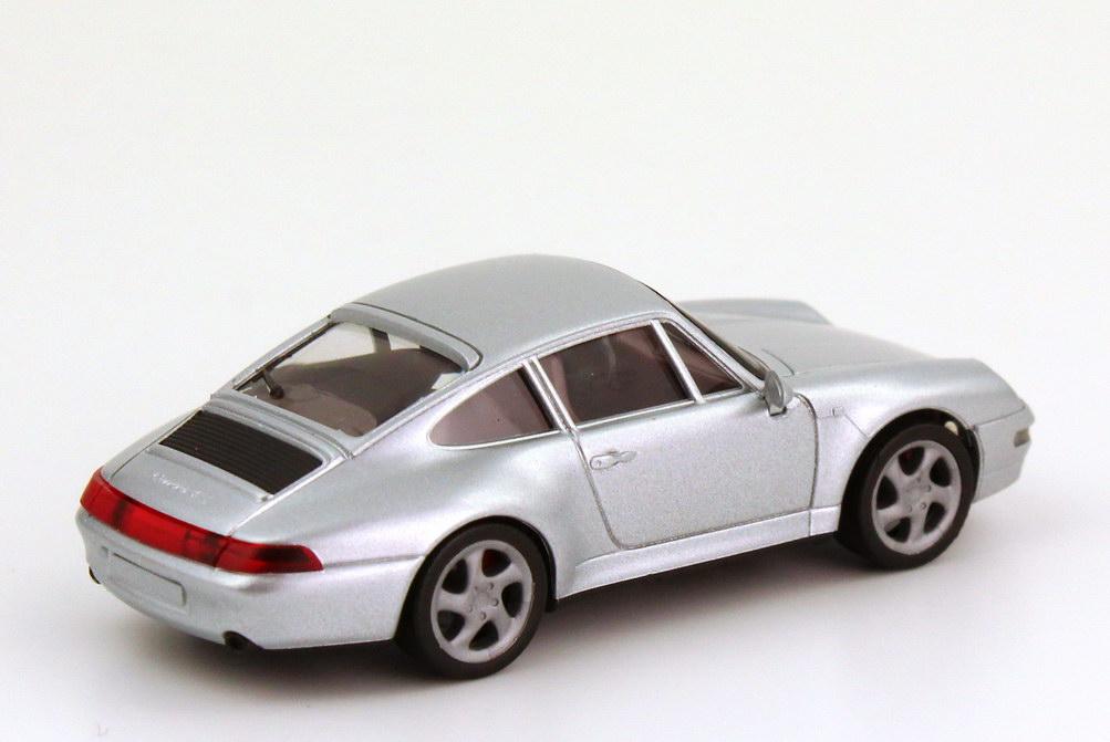 Foto 1:87 Porsche 911 Carrera 4S (993) silber-met., IA rot herpa 031943