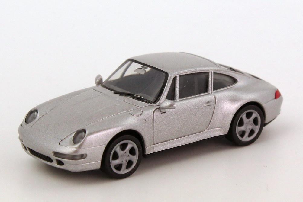 Foto 1:87 Porsche 911 Carrera 4S (993) silber-met., IA schwarz herpa 031943