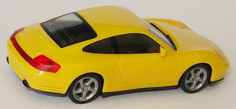 Foto 1:87 Porsche 911 Carrera 4S (996) gelb herpa 023047