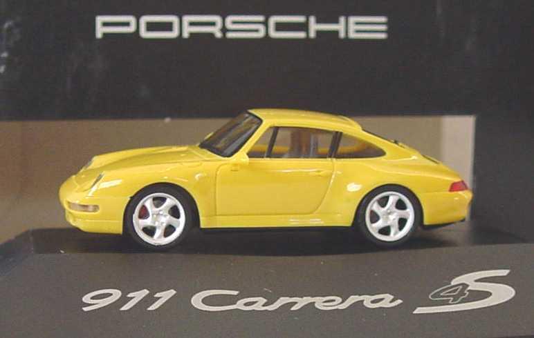 Foto 1:87 Porsche 911 Carrera 4S gelb (Porsche) herpa WAP022004