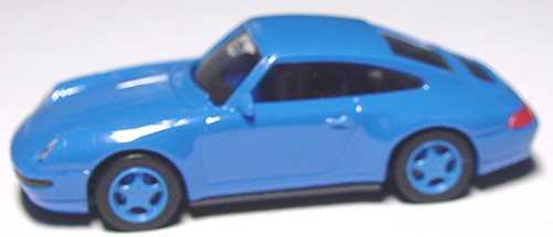 Foto 1:87 Porsche 911 Carrera 4 (993) blau, Felgen blau euromodell 00361