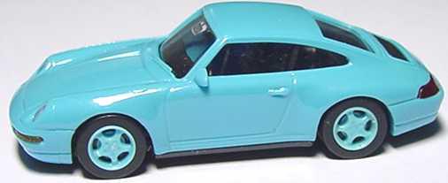 Foto 1:87 Porsche 911 Carrera 4 (993) hellblau, Felgen hellblau euromodell 00399