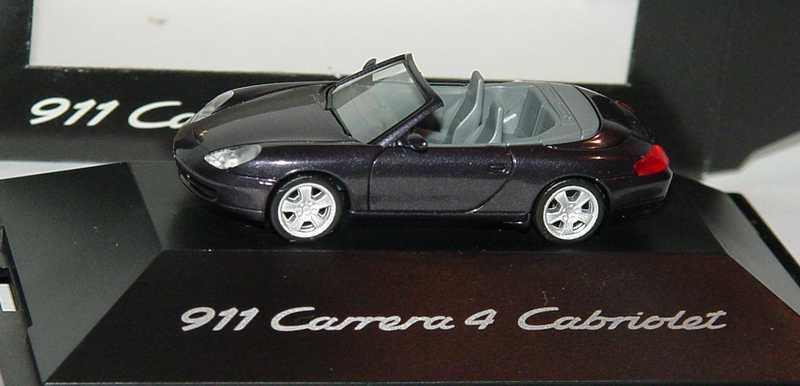 Foto 1:87 Porsche 911 Carrera 4 Cabrio (996) vesuvio-met. (Porsche) herpa WAP02203099