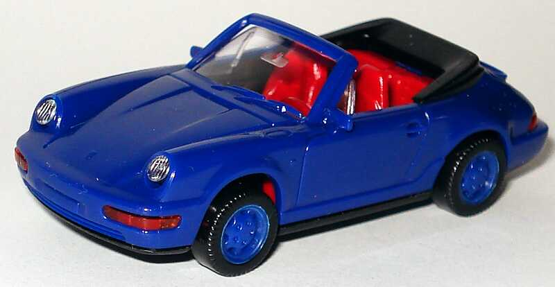 Foto 1:87 Porsche 911 Carrera 4 Cabrio blau Wiking 16503