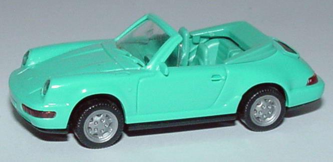 Foto 1:87 Porsche 911 Carrera 4 Cabrio mintgrün Wiking 16501