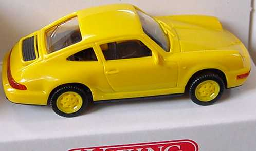 Foto 1:87 Porsche 911 Carrera 4 gelb, Felgen gelb Wiking 16402