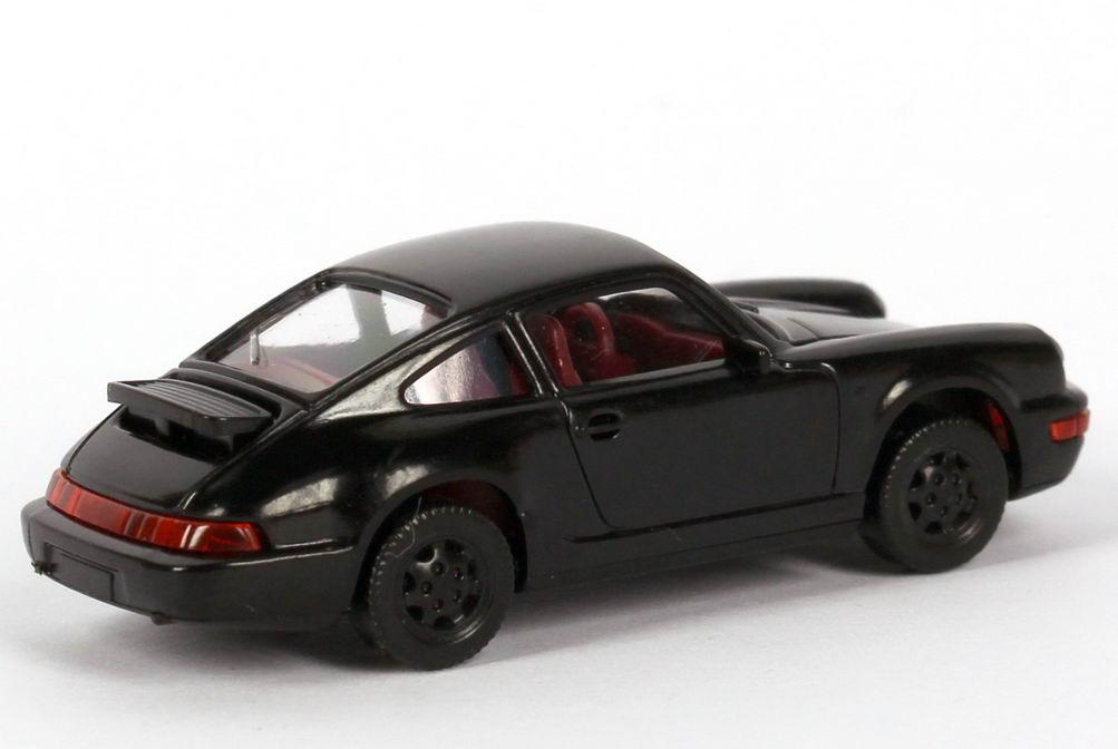 Foto 1:87 Porsche 911 Carrera 4 (Typ 964) schwarz Wiking 16401/016401