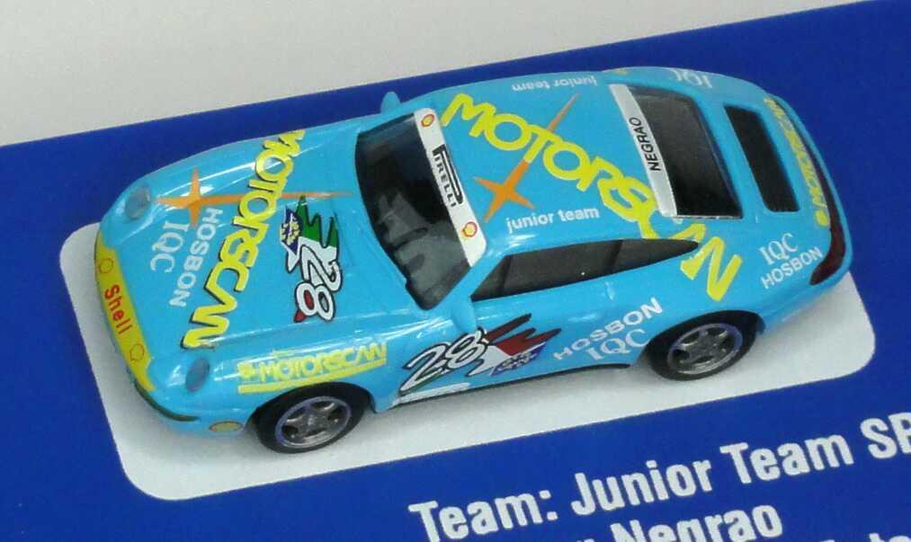 Foto 1:87 Porsche 911 Carrera (993) PC ´94 Junior Team SRL, Motorscan Nr.28, Negrao euromodell 01312