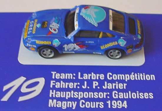 Foto 1:87 Porsche 911 Carrera (993) PC ´94 Larbre, Gauloise Blondes Nr.19, Jarier euromodell 01309