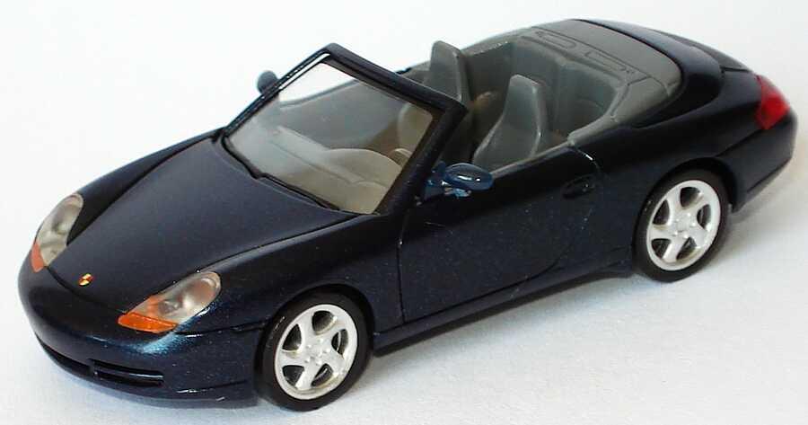 Foto 1:87 Porsche 911 Carrera (996) Cabrio dunkellagunenblau-met. herpa 032551