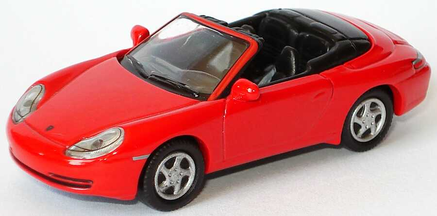 Foto 1:87 Porsche 911 Carrera (996) Cabrio rot Schuco