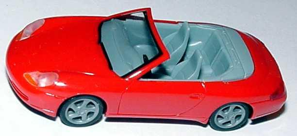 Foto 1:87 Porsche 911 Carrera (996) Cabrio rot, IA grau herpa 022552