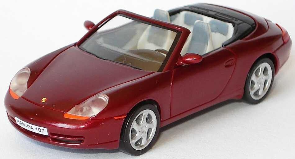 Foto 1:87 Porsche 911 Carrera (996) Cabrio weinrot-met. (Brillant-Serie) herpa 101219